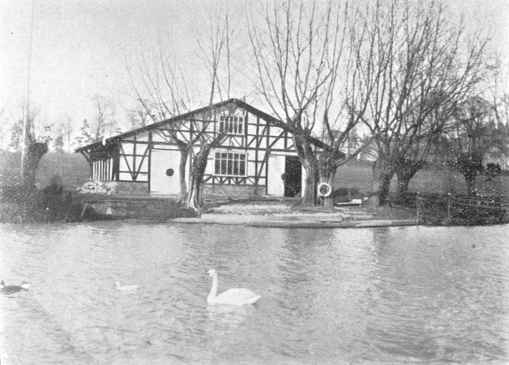 The boat house on a cool March day in 1901<br><small><i>Cheltenham Chronicle and Gloucestershire Graphic</i> 23 March 1901</small>