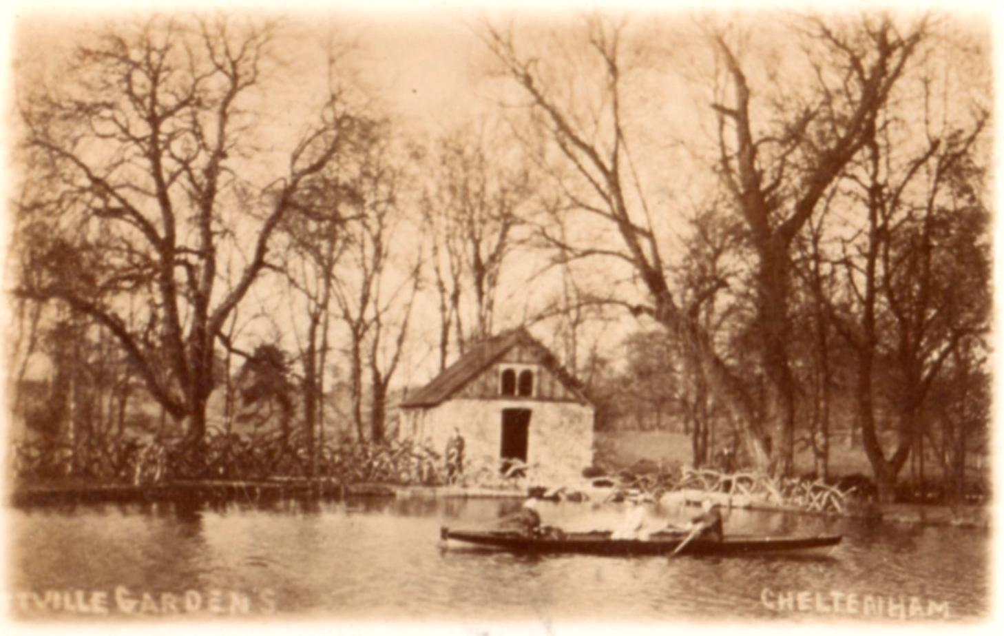 The Old Mill, at the western end of the West Lake (it was constructed around 1810, but is now demolished) (1908)