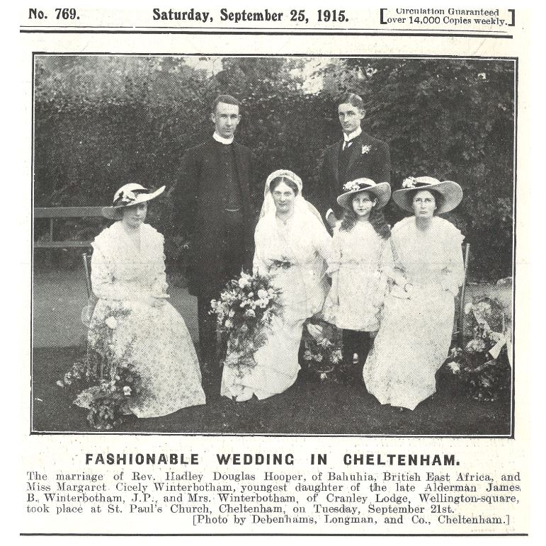 This time round, a more restrained wartime Winterbotham wedding<br><small><i>Cheltenham Chronicle and Gloucestershire Graphic</i> 20 February 1915</small>