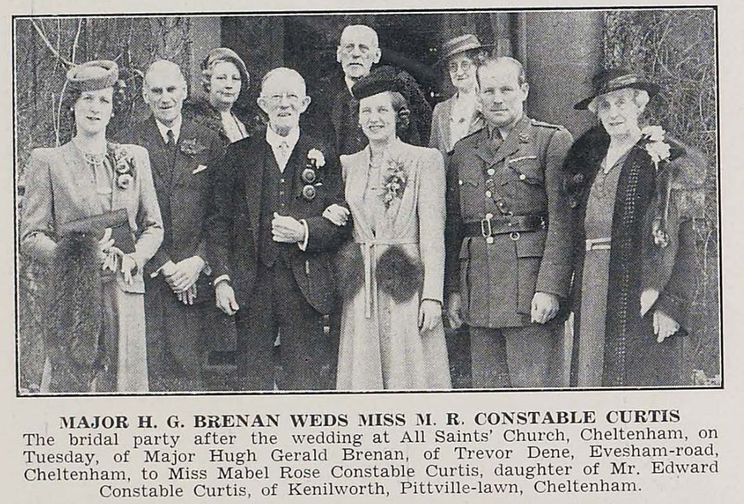 Another simple wartime wedding for two Pittville residents.<br><small><i>Cheltenham Chronicle and Gloucestershire Graphic</i> 26 April 1941</small>