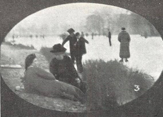 'Ladies lunching on the banks in the bitter cold on Friday'<br><small><i>Supplement</i> to the <i>Cheltenham Chronicle</i> 10 February 1912</small>