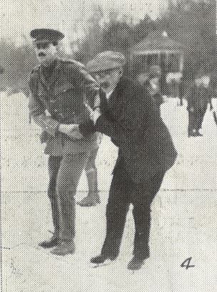 'Lieut. Flecker (Gloucester Regiment) and Mr. Ellam, skating together' (Dean Close)<br><small><i>Supplement</i> to the <i>Cheltenham Chronicle</i> 3 February 1917</small>