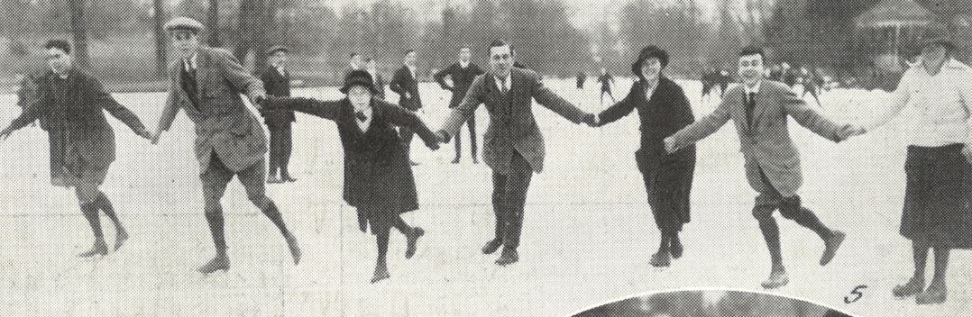 'A merry crowd skating together'<br><small><i>Supplement</i> to the <i>Cheltenham Chronicle</i> 3 February 1917</small>
