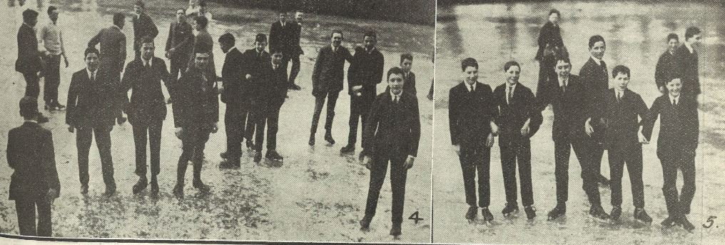 'College Boys having a fine time'<br><small><i>Supplement</i> to the <i>Cheltenham Chronicle</i> 22 February 1919</small>