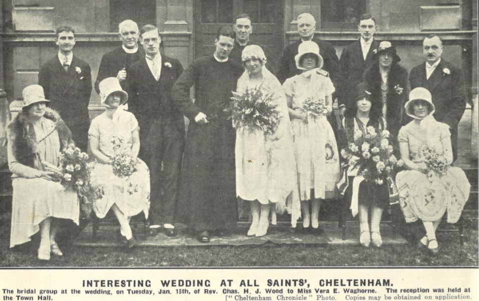 Yet another 'interesting' wedding, as the paper has learnt to call them<br><small><i>Cheltenham Chronicle and Gloucestershire Graphic</i> 19 January 1929</small>